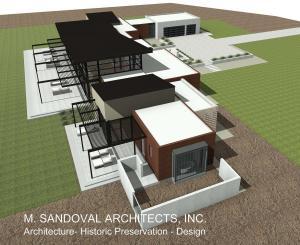 Contemporary House Plan - Birds Eye View 2-25-20 150