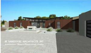 Napa Modern House - Front Exterior Elevation72
