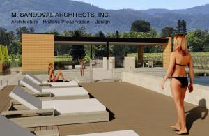 Contemporary Pool Pavilion View 23
