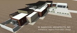 Napa Contemporary House Plan - Bird's Eye View 1- 02262072