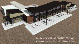 Napa Contemporary House Plan - Bird's Eye View 2 -01252072