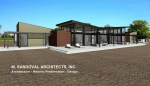 Napa Modern House - Rear Exterior Elevation 172