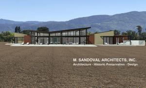 Napa Modern House - Rear Exterior Elevation 272